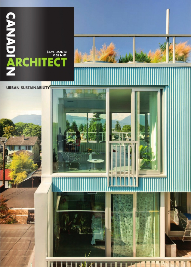 Teeple Architects make it in this month's Canadian Architect!