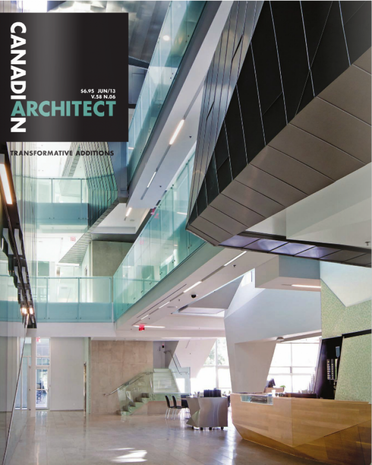Teeple Architects make the cover of in this month's Canadian Architect!