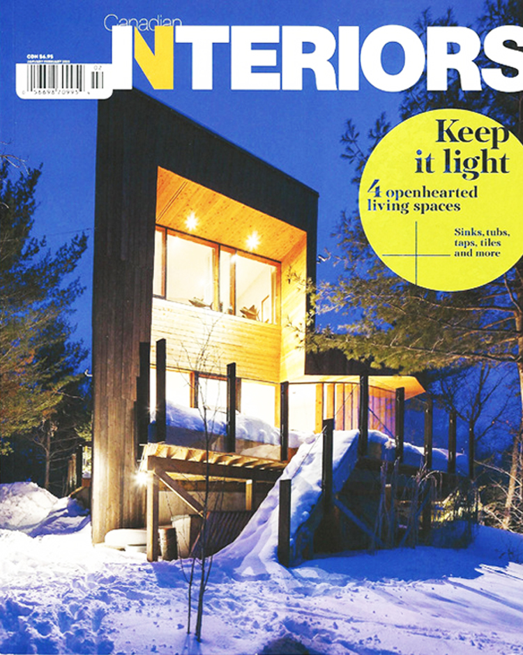 Delta Road Cottage on the cover of Canadian Interiors