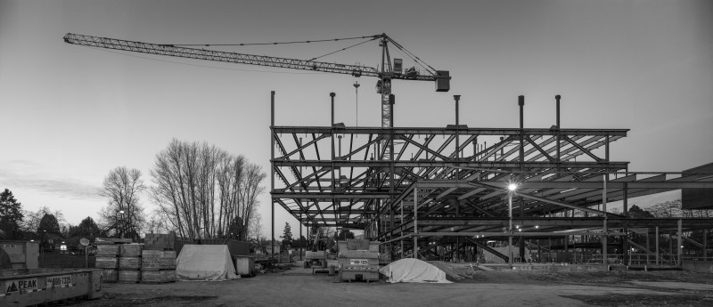 The Langara College Science and Student Services Building's 16 m Cantilever has begun