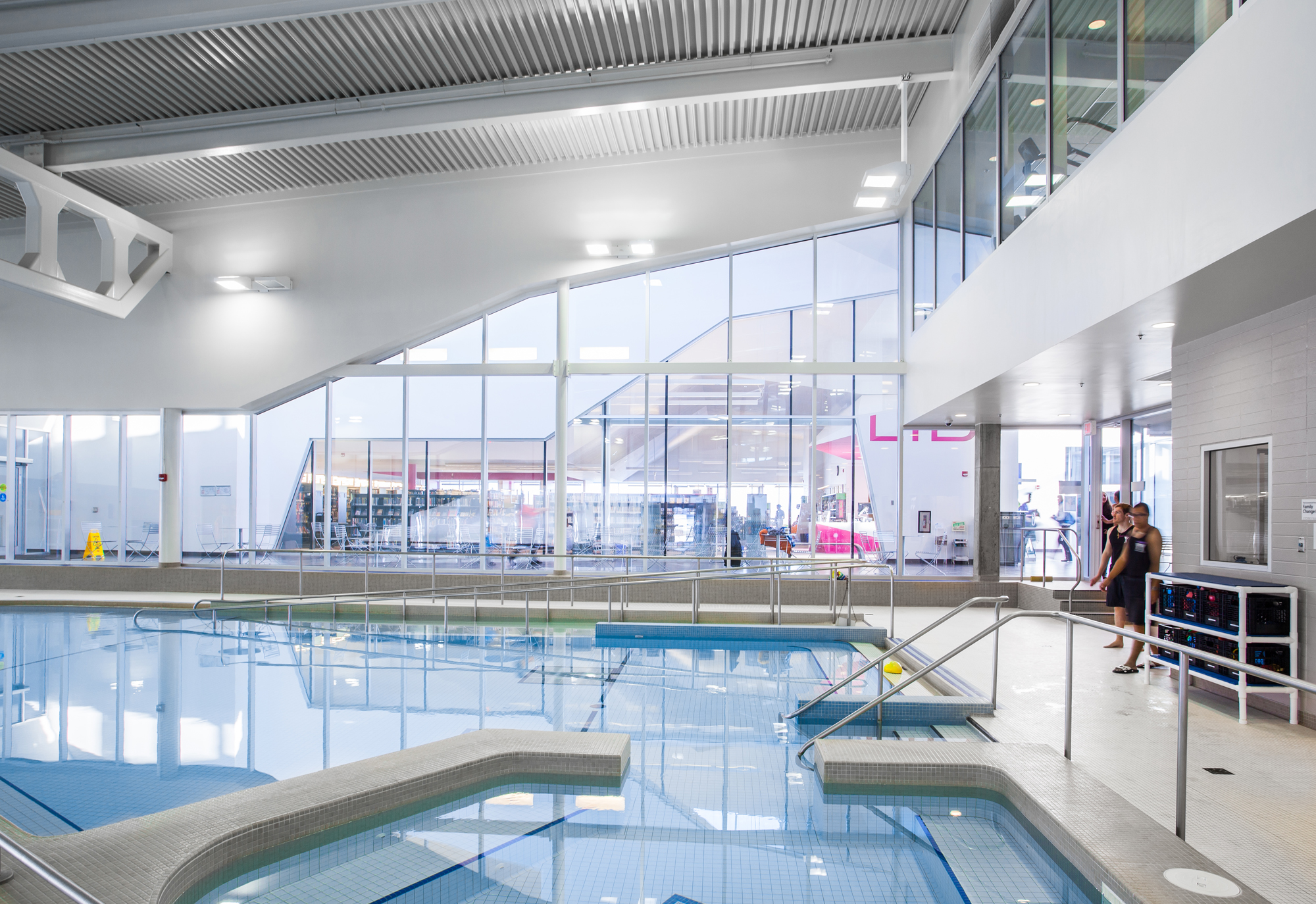John m harper branch library stork family ymca teeple architects for Waterloo rec centre swimming pool