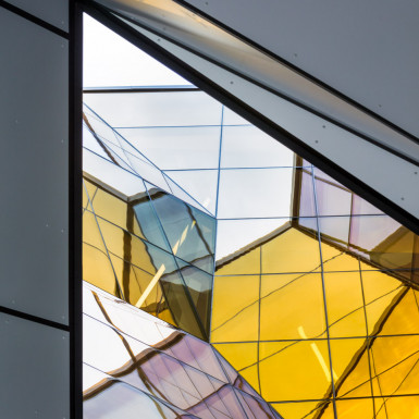 Detail view of the oculus from below. Photo by Andrew Latreille.