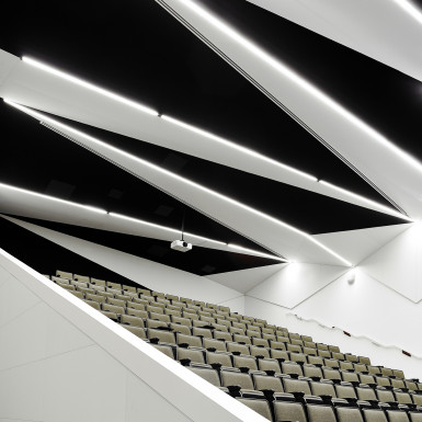 Interior view of main lecture hall. Photo by Scott Norsworthy.