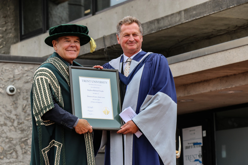 Stephen Teeple Receives Honorary Degree from Trent University