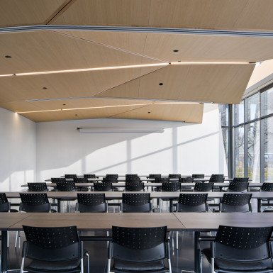 View of multipurpose classroom space. Photo by Andrew Latreille.