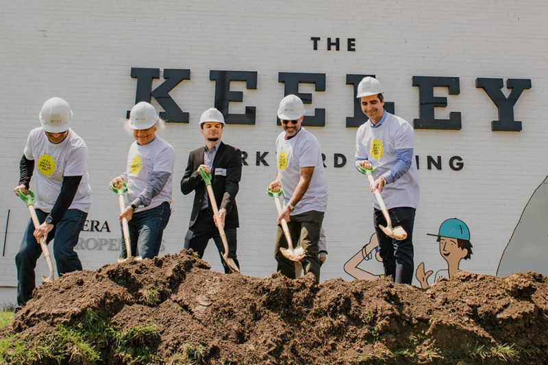 Groundbreaking Officially Kicks off Work on TAS Design Build's The Keeley