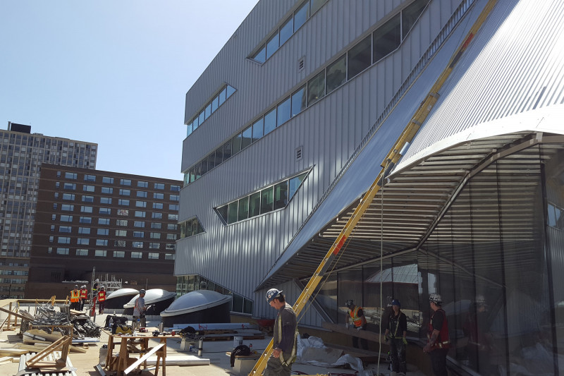 Construction on the Stanley A. Milner Library Renewal Nears Completion