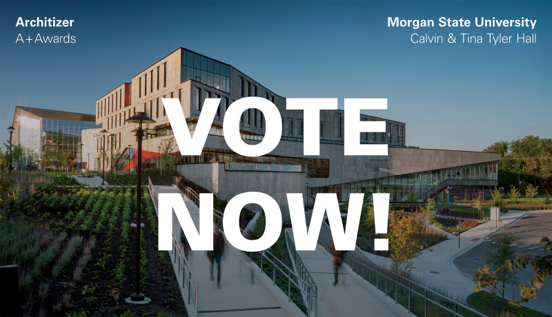 Morgan State University's Calvin & Tina Tyler Hall is a Finalist for the 2021 Architizer A+Awards