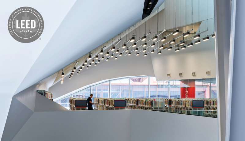 Stanley A. Milner Library Receives LEED Silver Certification from Canada Green Building Council
